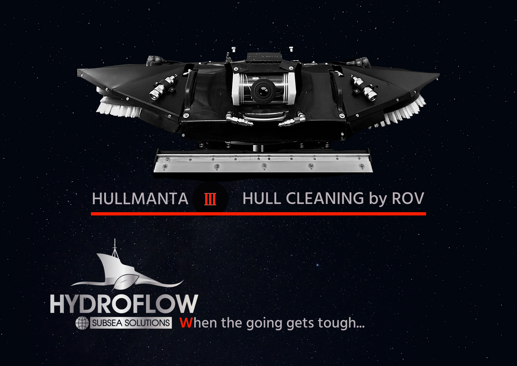 Hull cleaning by ROV